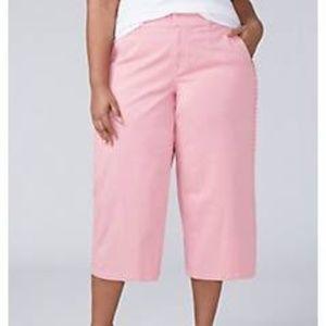 Ruffle Trim Crop Pants
